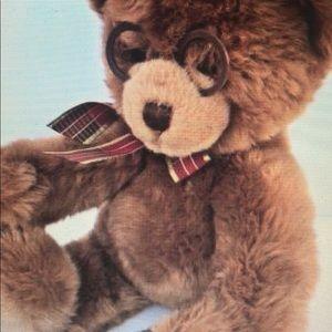Gund Teddy Bear Plush Glasses brown soft plush